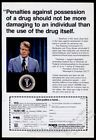 1979 Jimmy Carter photo NORML marijuana legalization vintage print ad