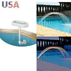 Cascade Waterfall Swimming Pool Fountain w LED Lights Colorful Above In Ground