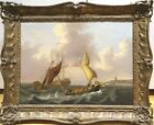 Large 19th Century English Ships Sailing Off A Coastal Town Thomas BUTTERSWORTH