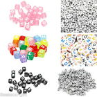 500PCS Mixed Cube Acrylic Letter Alphabet Beads Colorful New