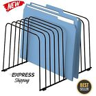 File Organizer Folder Divider Desk Holder Rack 11 Sections Wire Paper Fellowes