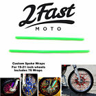2FastMoto Spoke Wrap Kit Green Covers Skins Wraps Covers Custom Wheels Bultaco