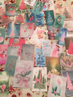 Christmas Die Cuts Gift Tags 90 Shabby Pink Green Blue Vintage Style Mixed Media
