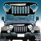 For 1997 2006 Jeep Wrangler TJ Front Grill Angry Bird Grille Gloss Black Grille