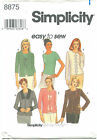 Simplicity 8875 Misses Knit Top Cardigan Sewing Pattern Size 6-12