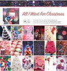 12 x 12 American Crafts All I Want For Christmas 36 pages Scrapbook Paper lot