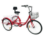 20 26 3 Wheel Tricycle 7 Speed Adult Trike Bicycle Bike Cruise With Basket