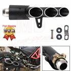 Three-Outlet Motorcycle Exhaust Muffler Tail Pipe Slip on 38mm-51mm Universal US