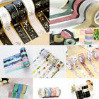 Washi Tape Set Masking Tape Scrapbook Decorative Paper Adhesive DIY Sticker Hot