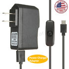 5V 25A US Plug Power Supply Charger Adapter ON OFF Switch For Raspberry Pi 3