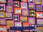 Cats Meow Kitten Caricatures Steve Haskamp Design on Flannel Cotton By The Yard