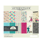 New Authentique PARTY 24 Sheet Birthday Celebrations 6x6 Cardstock Paper Pad