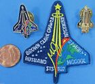 NASA PATCH  2 PIN LOT 03 vtg STS 107 Space Shuttle COLUMBIA final mission