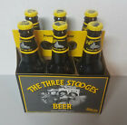 Three Stooges Premium Lager Beer 6 Pack Unopened RARE Upside down label Panther