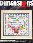 Dimensions Friends Are Flowers Sampler 3047 Stamped Cross Stitch Kit