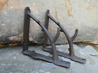 Set of 2 Cast Iron Shelf Brackets New Antique-Style Twig Branch Rustic 7