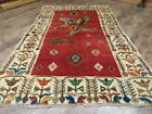 C1940 ANTIQUE HUNTING(TREE OF LIFE)QOOM QUUM GHOOM 4.6x6.10 ESTATE SALE RUG