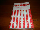 1976 FORD BRONCO OWNER MANUAL 76 OWNERS GUIDE
