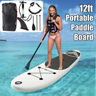 12ft Inflatable Surfing Fin Board Surf Stand Up Paddle Board SUP Wa