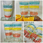 VTG 1960s MID Century Modern Libbey Jumbo Large Drink Glass Tumblers Stripes 2