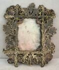 Crafts Movement METAL ENAMEL Picture FRAME Flowers Leaves Acorns
