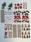 Lot of 16 The Gifted Line Grossman Stickers Christmas Floral Borders Dogs Bears