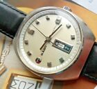 Clean S/S Vintage 1970's Men's RADO Marco Polo Day Date Automatic Swiss Watch