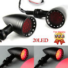 Universal 20LED Motorcycle Stop Brake/Running Red Bullet Turn Signal Tail Lights