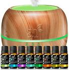 Aromatherapy Essential Oil Diffuser Gift Set - Top 8 Oils - Peppermint, Tee Tree