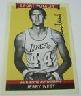 2009 Upper Deck Goudey #257 Jerry West Autographed Card Los Angeles Lakers RARE