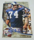 2009 Ud Football Heroes Merlin Olsen Signed Autographed Card Rams #'d 10 10 RARE