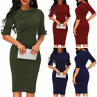 US Women Bandage Bodycon Evening Party Cocktai Work Office Elegant Midi Dress
