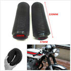 2Pcs Motorcycle Front Fork Cover Protector Gaiters Boot Shock Rubber 200x37x50mm