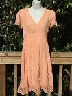 New_Beautiful Boho Cotton Dress with Laces_Peach_Free Size (fits sizes S-M)