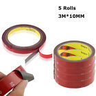5PCS Auto Truck Car Acrylic Foam Double Sided Attachment Tape Adhesive 3m x 10mm