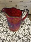 Indiana Ruby Red Sunset Amberina Carnival Glass Heirloom Water Pitcher 8