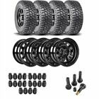 JEGS 681010K44 Jeep Wheel and Tire Kit 1987 2006 Wrangler YJ TJ 1984 2001 Cherok