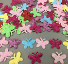 100X Sequins small butterfly Felt Appliques Mixed Colors Cardmaking Crafts 24mm