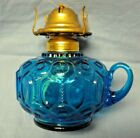VTG OIL LAMP BASE BLUE MOON AND STARS LE SMITH W/FINGER HOLD EAGLE BURNER