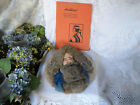 Vntg Native Amnerican Porcelain Baby Doll In Fur Handcrafted w Haliksai Book