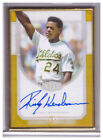 2017 Topps Transcendent Auto RICKEY HENDERSON Gold Framed 1 1 GOLD AUTOGRAPH SSP