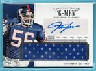 2014 National Treasures TIMELINE Lawrence Taylor # 10 SP AUTO JERSEY - GIANTS