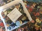 GREAT MIX  300 pcs MIXED LOT of VINTAGE to NEW Buttons ALL TYPE SIZE COLOR