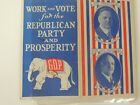 1928 Herbert Hoover Hstorical Election GOP REPUBLICAN Advertising Sewing Kit