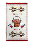 Christ Is Risen Pysanky Eggs Fabric Hand Embroidered Pascha Easter Basket Cover