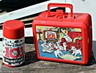 Vintage Red Aladdin 101 Dalmations Lunch Box and Thermos Disney Plastic Lunchbox