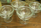 VINTAGE LOT SET 2 LARGE CLEAR GLASS 2 PART SHRIMP COCKTAIL COMPOTES  / HOLD ICE
