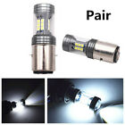 2X 100W 3-Side White 6000K 22SMD Headlight DRL Driving Light Bulb For Motorcycle