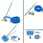 Pool Cleaning Tool Vacuum Set with Telescopic PoleHose 1 Brush 2 Leaf Skimmers