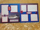 Premade Scrapbook 2 Page Layout BON VOYAGE CRUISE VACATION NOT DIGITAL